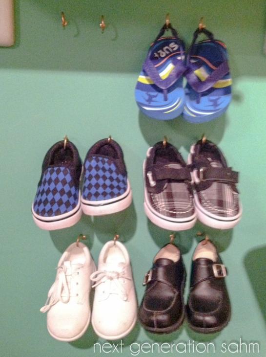 shoes on hooks