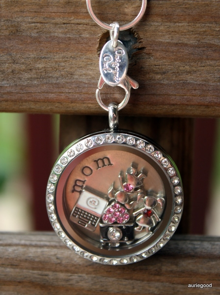 Origami Owl Pink Heart Charm