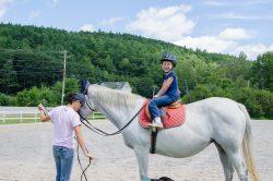 Emily's First Horseback Riding Lesson
