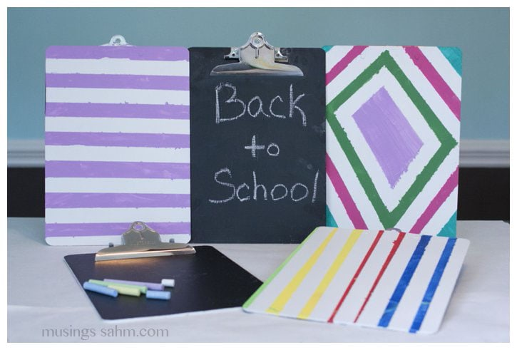 DIY Personalized Chalkboard Clipboards