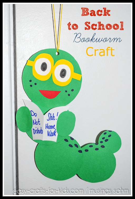 Back-to-School Bookworm Craft