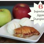 Easy 6 Ingredient Apple Dumplings {Cooking with Kids}