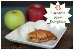 Easy 6 Ingredient Apple Dumplings {Cooking with Kids}