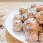 peanut butter protein balls on a plate