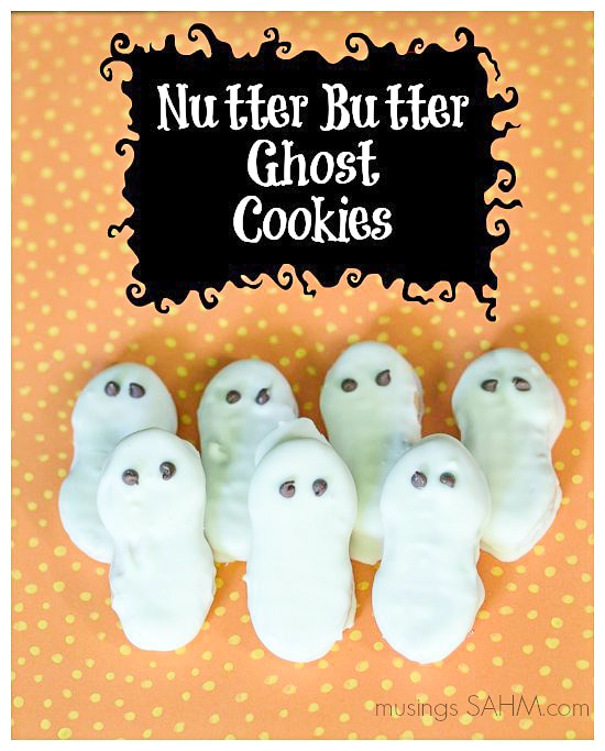 Nutter Butter Ghost Cookies {Holiday Cooking with Kids} - Musings From ...
