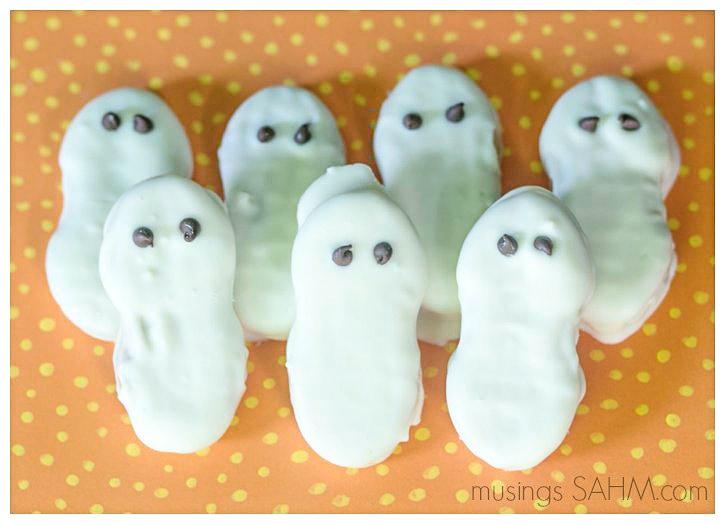 Halloween Nutter Butter Ghost Cookies