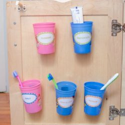 Organizing Toothbrushes & Toothpaste Out of Sight