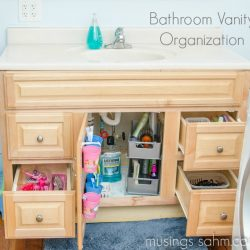 How I Organized Our Bathroom Vanity