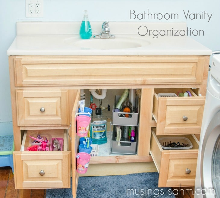 organized our bathroom vanity this includes my tips for organizing