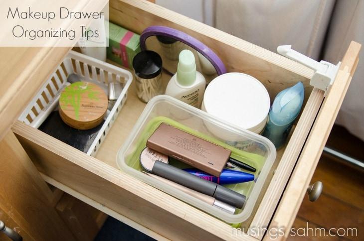 makeup drawer organizing tips