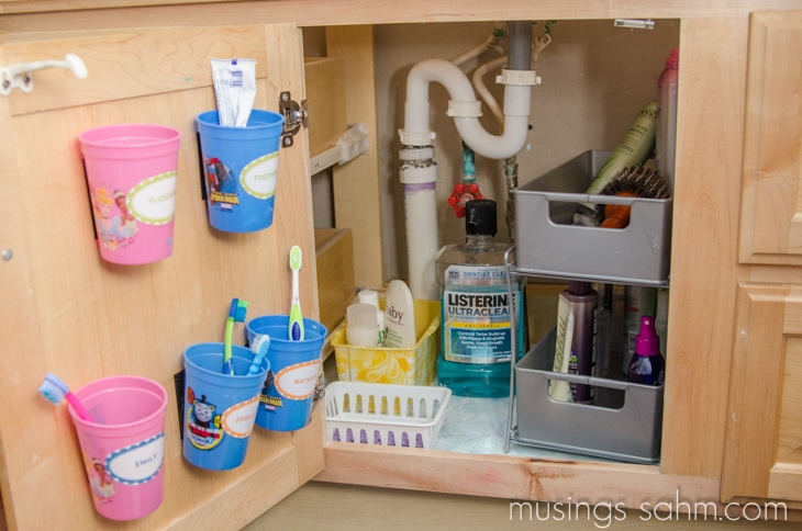 how to organize under the bathroom sink how i organized our bathroom vanity living well 26160