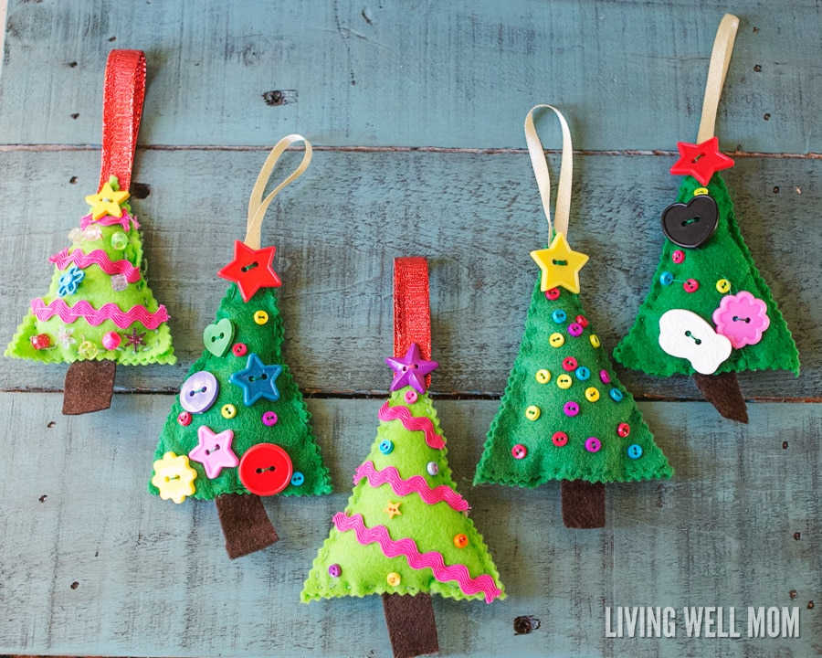 Felt christmas tree ornaments - How to make felt christmas decorations ...