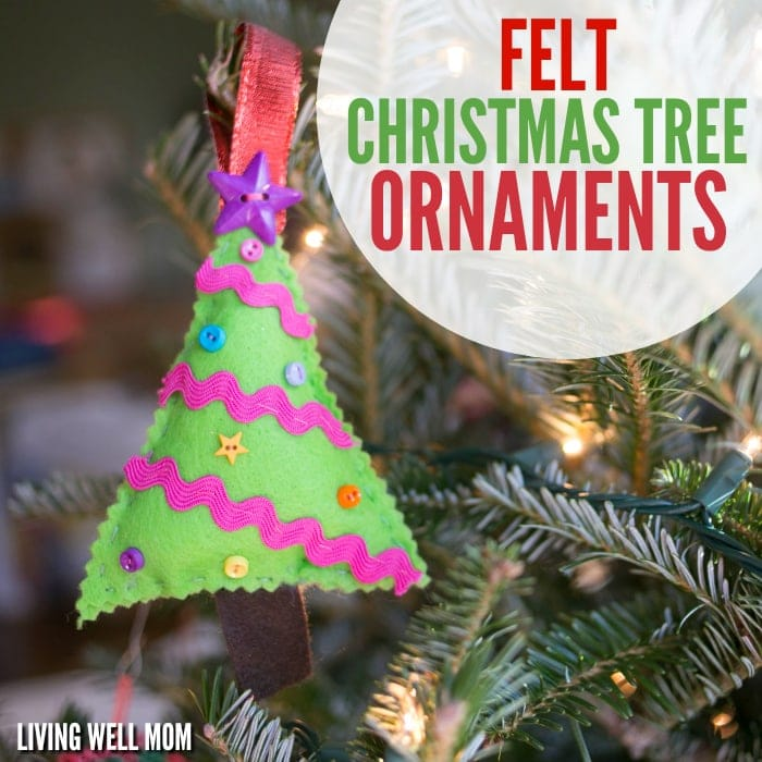 Christmas Tree Decorations Facebook: Felt Christmas Tree Ornaments