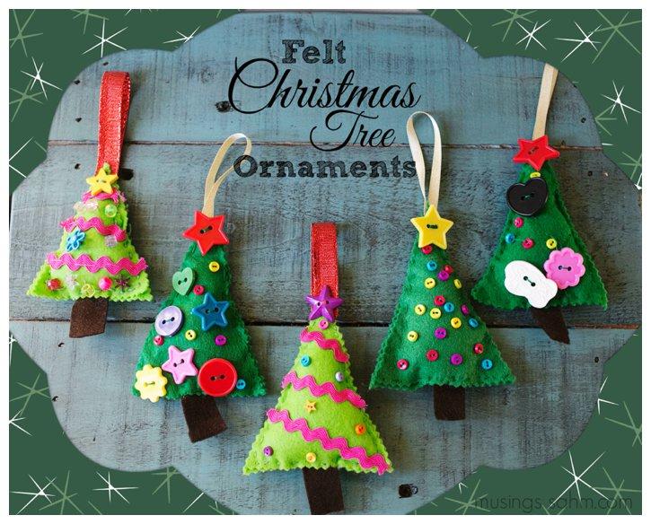 Felt christmas tree ornaments living well mom for Felt christmas crafts for kids