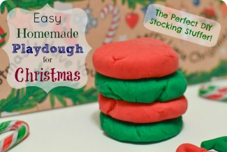homemade Christmas playdough
