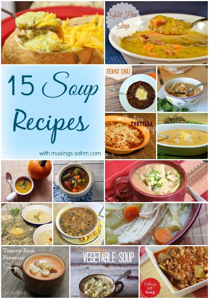 15 Soup Recipes