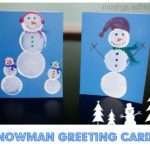 Snowman Greeting Cards {Crafts with Kids}