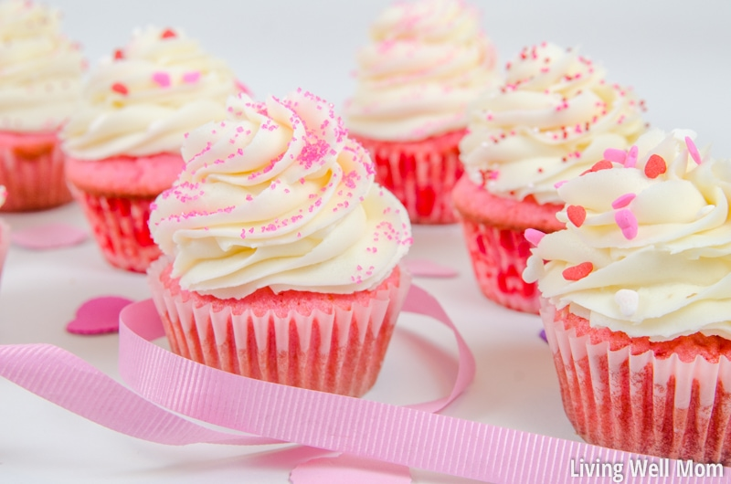 Looking for a cupcake with some color for Valentine's Day, a baby shower, or birthday party? With a classic vanilla flavor and an unforgettable buttercream frosting, these pretty Pink Velvet Cupcakes are always a favorite!