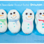 White Chocolate Peanut Butter Snowman Cookies