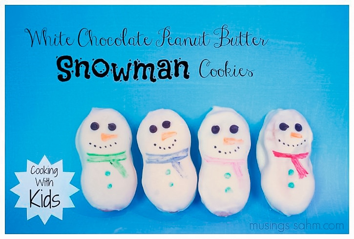 White Chocolate Snowman Cookies
