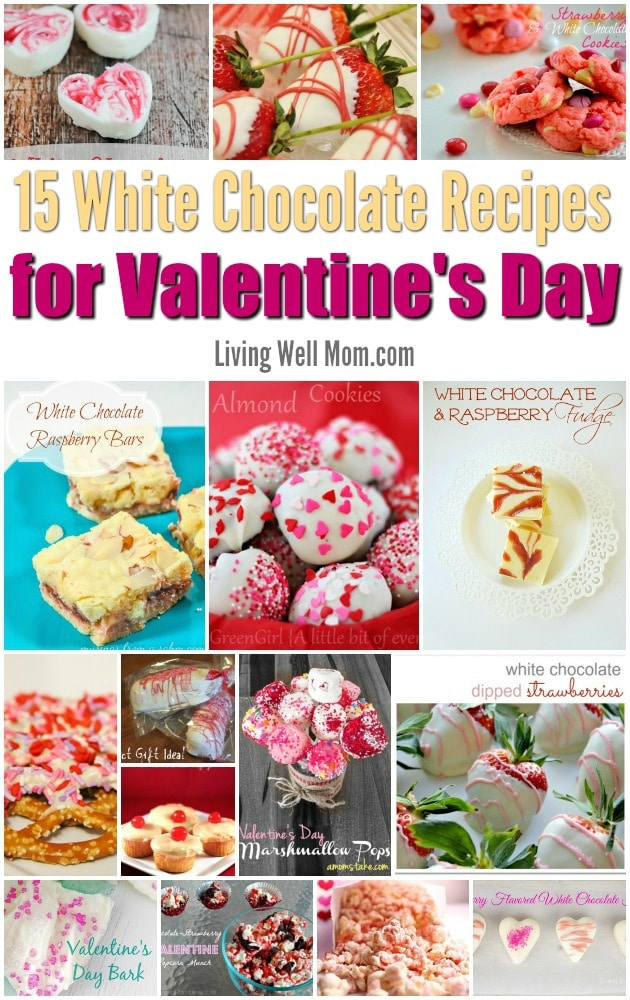 Love white chocolate? Here's 15 white chocolate recipes for Valentine's Day that are so mouthwatering, you'll want to make them all!