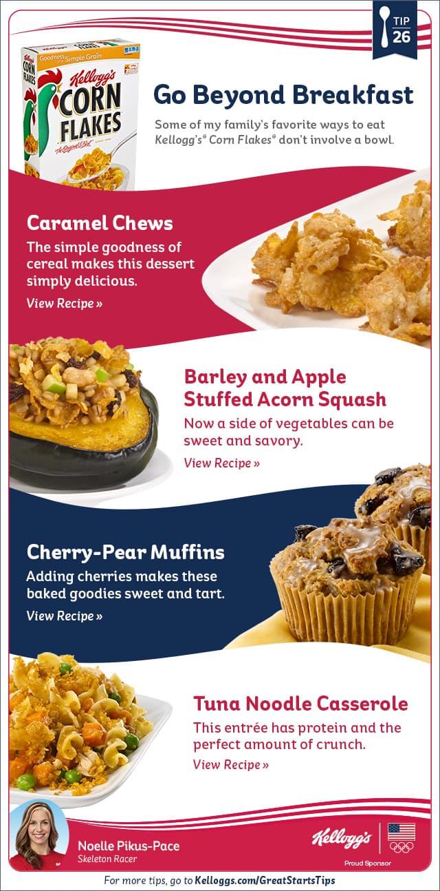 Beyond Breakfast Kellogg's Recipes