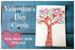 Homemade Valentine's Day Cards for Kids, with Fine Motor Skills Practice