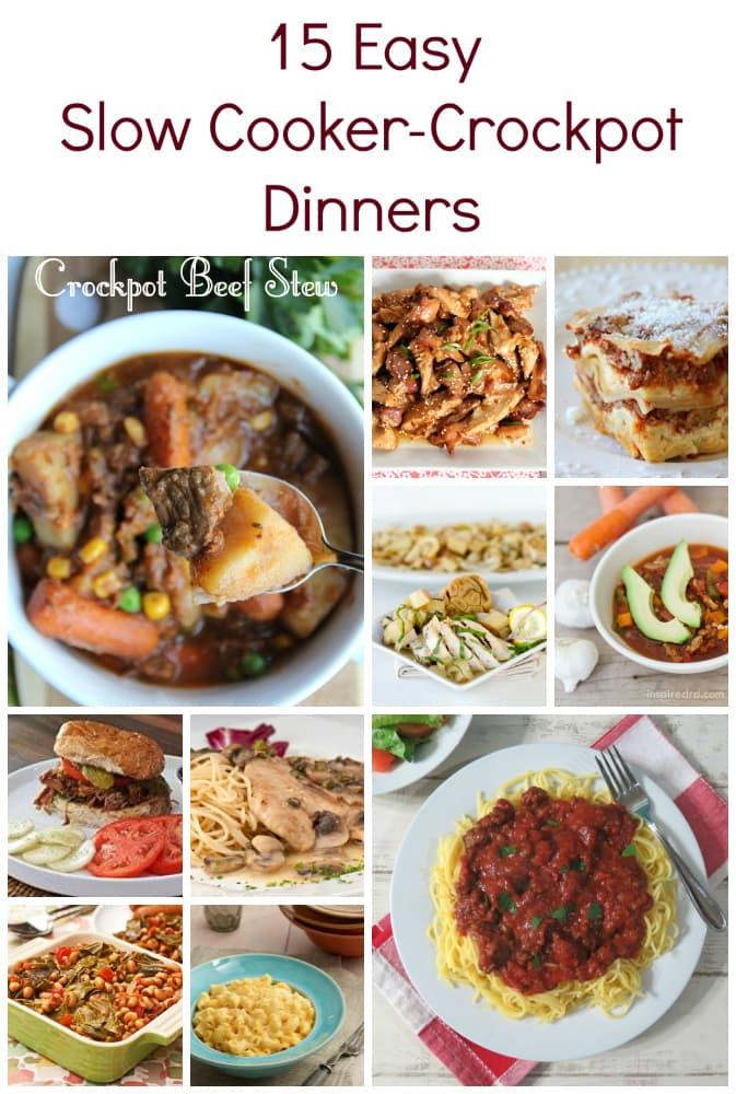 15 Easy Slow Cooker-Crockpot Dinners