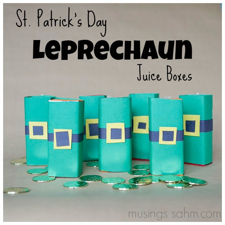 St Patrick's Day Leprechaun Juice Boxes