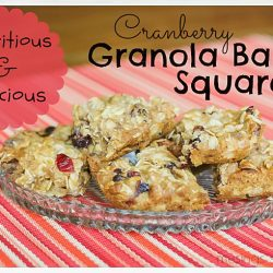 Cranberry Granola Bar Squares