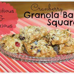 Cranberry Granola Bar Squares: Nutritious & Delicious