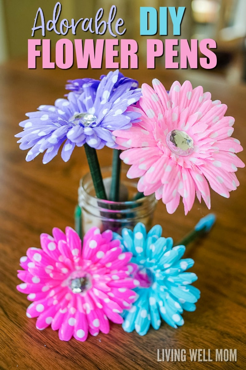 How to make flower pens simple diy gift idea for Simply crafts