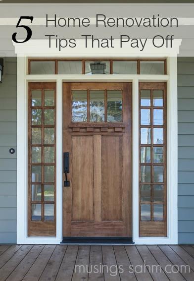 5 Home Renovation Tips