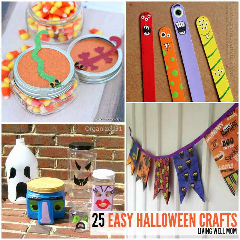25 Super Spooky Easy To Make Halloween Crafts For Kids
