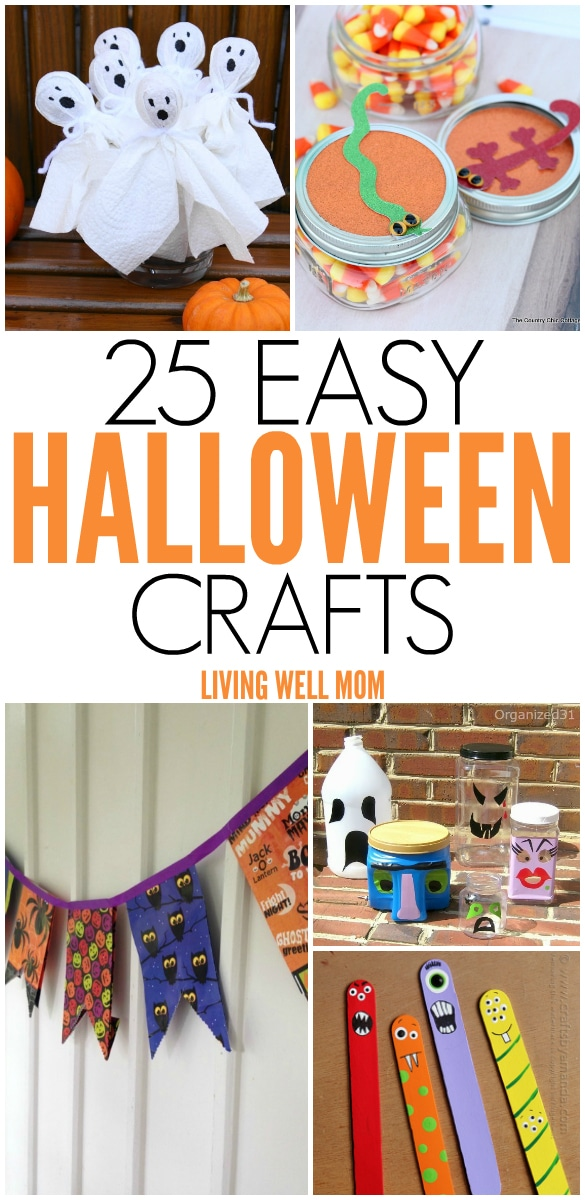 25 spooky easy to make halloween crafts for kids from cute little mummies - Easy To Make Halloween Crafts
