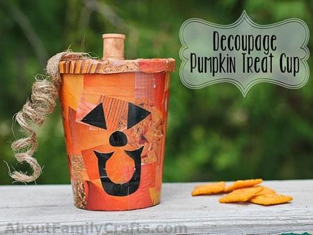 Decoupage-Pumpkin-Treat-Cup