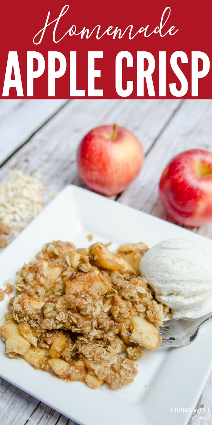 "The delicious combination of spices melds perfectly with this secret-ingredient Homemade Apple Crisp recipe. Plus it's gluten-free and so easy to make, even a ""non-baker"" can make a batch of this favorite fall dessert!"