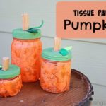 DIY Tissue Paper Pumpkin Jars