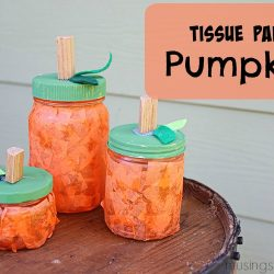 DIY Tissue Paper Pumpkin Jars