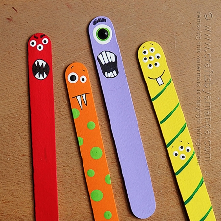 popsicle stick monsters