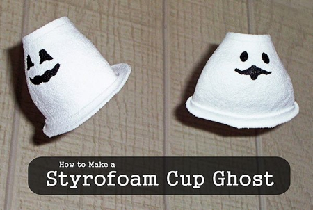ghosts made out of styrofoam cups