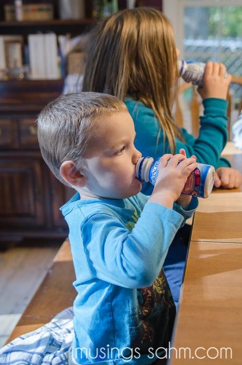 kids drinking Pediasure