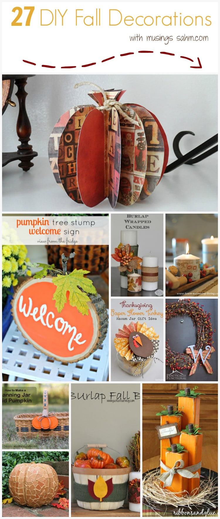 27 DIY Fall Decorations to make for your home you'll love! |crafts|autumn
