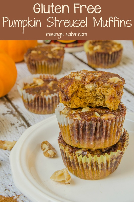 Gluten Free Pumpkin Streusel Muffins are perfectly spiced, naturally ...