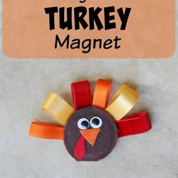Canning Jar Lid Turkey Magnet