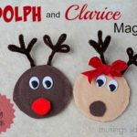 Rudolph and Clarice Reindeer Canning Jar Lid Magnets