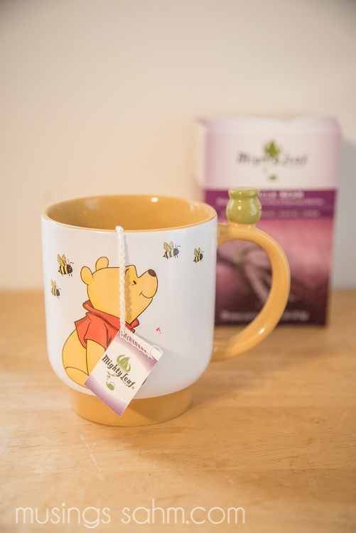 Mighty Leaf Tea and pooh mug