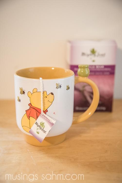 Mighty Leaf Tea and pooh mug