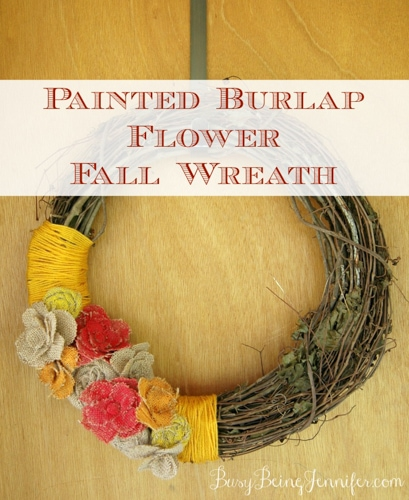 Painted-Burlap-Flowers-Fall-Wreath-BusyBeingJennifer.com_