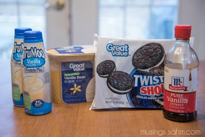Cookie cream milkshake recipe